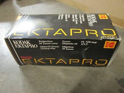 NEW Ektapro 75mm - 120mm f3.5 slide projector lens / FF zoom projection lens