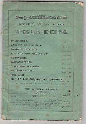 1876 New York Herald Tribune guide to the Centennial Exhibition w/map