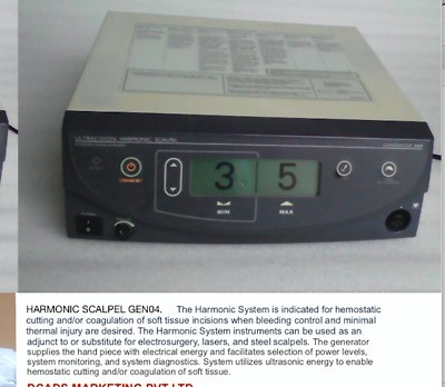 'CLEARANCE' Ethicon Ultracision Harmonic Scalpel GEN04, UNLIMITED COUNTER HP054