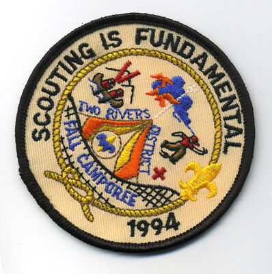 Two Rivers District 1994 Fall Camporee Boy Scout Patch Scouting Is Fundamental