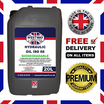 Biodegradable Hydraulic Oil ISO 68 Fluid 20L 20 Litres Bio Oil VG 68