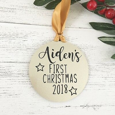 Baby First Christmas Bauble or decoration for baby, new baby gift, born in 2018