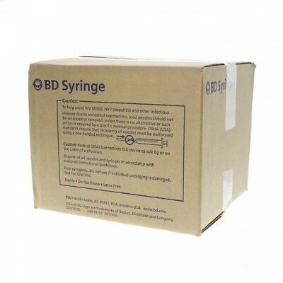 (100) BD Luer Lok Syringe 3ml(3cc) 22g x 1in precision glide box of 100