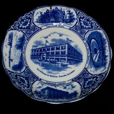 Pottery & Glass @ Perfect @ Porceleyne Fles Handpainted Delft Plate Worldjourney Submarine 1935