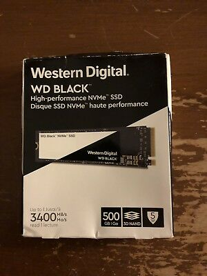 WD Black NVMe M.2 2280 500GB PCI-Express 3.0 x4 3D Internal Solid State Drive