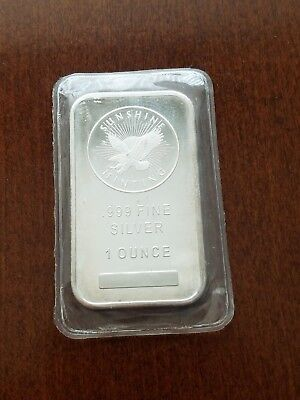 1 oz. Silver Bar - Sunshine Minting - .999 Fine - Sealed 002