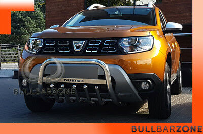 Dacia Duster Ii 2017+ Tubo Protezione Medium Bull Bar Inox Stainless Steel!