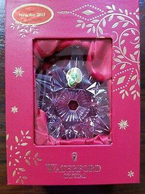 Brand New. 2015 Waterford Annual Snow Crystal Pierced Ornament #40005025