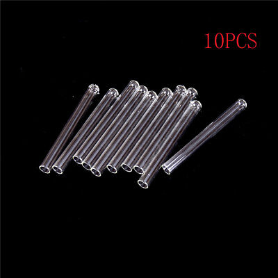 10Pcs 100 mm Pyrex Glass Blowing Tubes 4 Inch Long Thick Wall Test Te