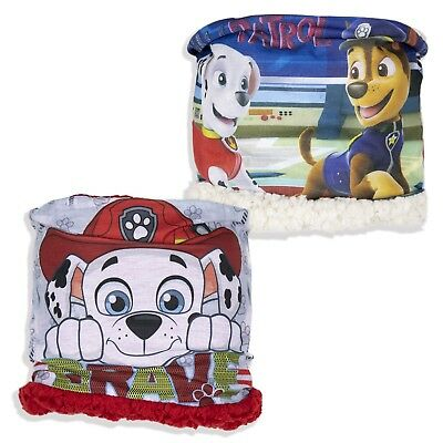 Paw Patrol Boys Warm Snood Neck Warmer Winter Scarf Fleece Chase Scarves 1-8 Yrs