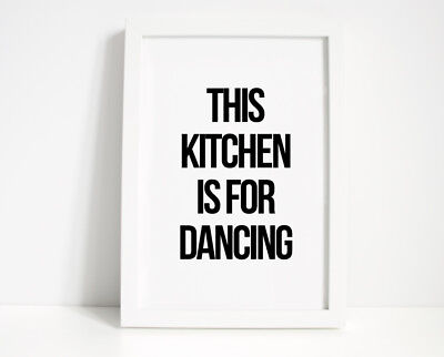This Kitchen Is For Dancing Wall Print - Wall Art, Home Decor, Kitchen Print,