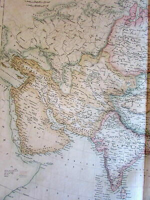 Asia Arabia India Hindostan China c.1860 Fullarton Macpherson large old map