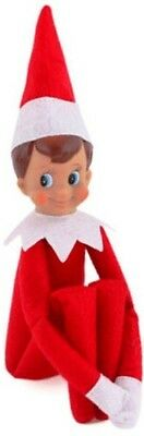 Boy Elf doll in red FREE shipping