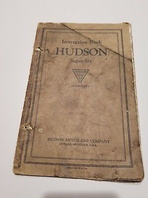 Hudson Super Six  1924-26 Original Instruction book