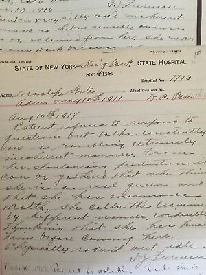 *100+ yrs old* Kings Park State Hospital Patient File Medical Record