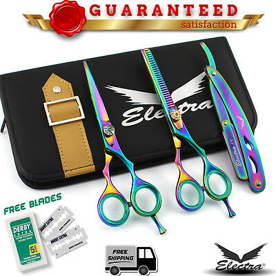 """Professional Barber Hairdressing Scissors And Thinning 5.5"""" In Japanese Steel EB"""