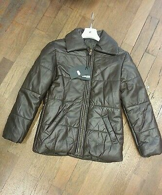 19 Vera EUR DONNA Made S 90 In Italy Pelle MARRONE Tg GIACCA I6OzxvI