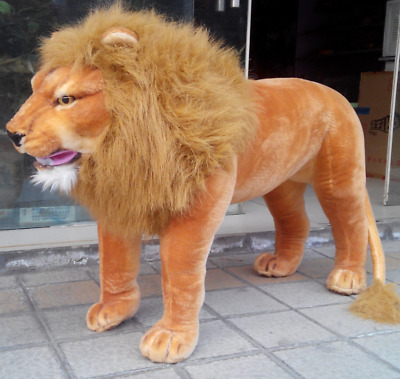125cm*60cm Giant Simulation Lion Plush Soft Big Ride Lion Toys Kid Gift Birthday