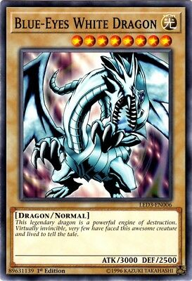 Yugioh! Blue-Eyes White Dragon - LED3-EN006 - Common - 1st Edition Near Mint, En