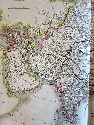 Asia Arabia India Anam China Tibet Caubul Nepaul 1829 Sidney Hall large old map