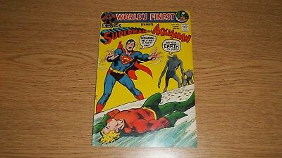 WORLDS FINEST #203 DC COMICS SILVER 15c SUPERMAN/AQUAMAN NEAL ADAMS