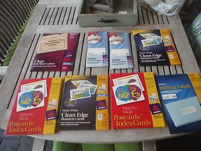 Avery postcards index business cards, labels mailing clear bundle lot used & new