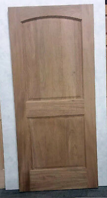 """NEW! Solid MAHOGANY Wood Arched Raised Panel Entry Exterior SLAB Door 80"""" x 36"""""""