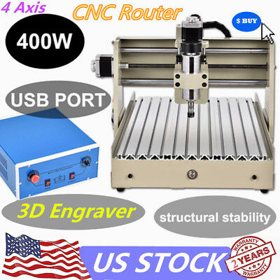 4AXIS 3040T USB CNC Router Engraver 400W Engraving Cutting Machine Carver Cutter