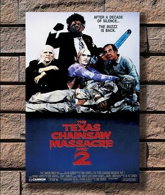 ZA1092 THE TEXAS CHAINSAW MASSACRE Part 2 Movie Horror Leatherface Poster Hot 40
