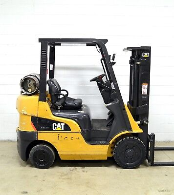 Nice! Caterpillar 5000 Lb Lpg Forklift 5,000 Cat C5000 Late Model