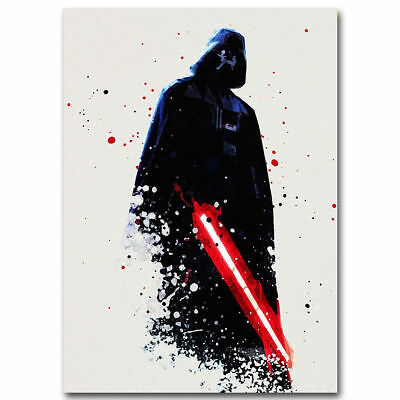 F-152 Watercolor Star Wars Darth Vader Movie Hot Poster - 36 27x40in - Art Print