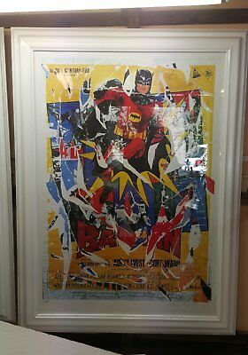 Rotella Mimmo Batman  - 100 cm X 70 cm - SeriDecollage adam west movie