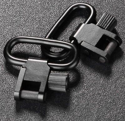 2x Stainless Steel Quick Detach Rifle Sling Swivels Hunting Outdoor Climbing