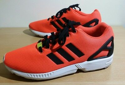 d3d508b02f99f Adidas Originals ZX Flux Infrared Neon Orange M22509 Mens Size 10.5 Preowned