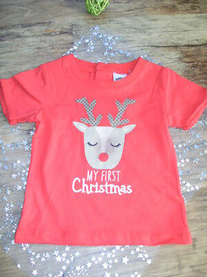 MY FIRST CHRISTMAS T-SHIRT  UNISEX  size 000