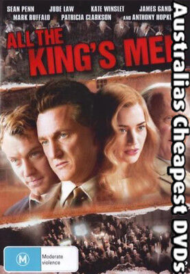 All The King's Men DVD NEW, FREE POSTAGE WITHIN AUSTRALIA REGION 4
