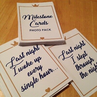 56 Milestone Cards Baby 1st Year Little Prince/Princess Theme Printable Template