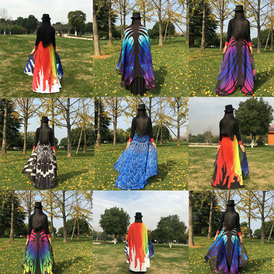 Vintage Women Scarf Butterfly Wing Wrap Long Shawl Scarves Tapestry 197*130cm