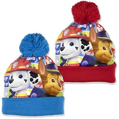 Paw Patrol Garçons Chaud Hiver Bonnet Pompon Chasse Marshall Personnages 2-8  Ans f95a8009854