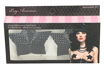 Leg Avenue Gummy Rhinestone Star Pasties 2117 Damen Nipple Covers