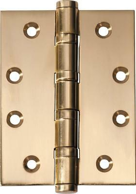 fixed pin ball bearing hinge,75 x 100 x 3 mm,brass and 8 other finishes