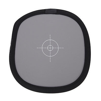"""30cm 12"""" 2 in 1 18% Gray + Pure White Foldable Balance Grey Focus assist Card ^F"""