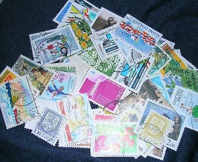 Finland Postage Stamps over 100 stamps mixed  great condition
