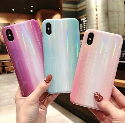 Luxury Aurora Smooth Soft Phone Case Cover For iPhone XS Max XR X 6/6S 7 8 Plus