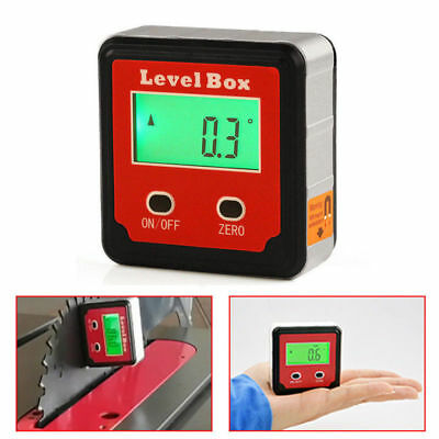 360° Magnetic Digital LCD Inclinometer Level Box Gauge Angle Meter Protractor US