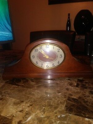 Revere Telechron Westminster Chime electric mantle clock, Mahogany case,