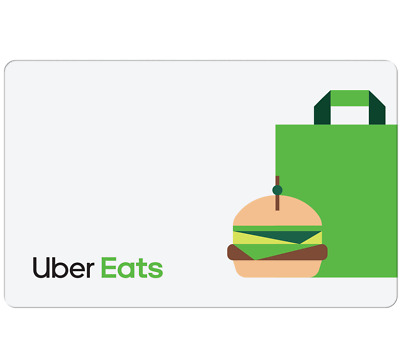 Uber Eats Gift Card $20, $50, $100 - Email Delivery
