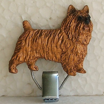 Australian Terrier Red Tan Show Ring Clip Dog Breed Jewellery Handpainted