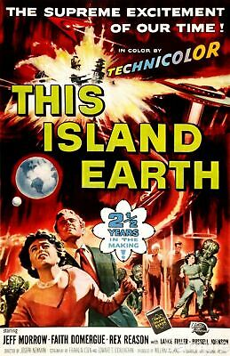 This Island Earth Sci-Fi Movie Film Poster Art Print Picture A4