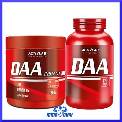 Activlab DAA 1000 Testosterone Booster 1000mg D Aspartic Acid Strong Anabolic